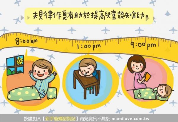 【養成規律作息,穩定寶寶情緒和提高認知能力】