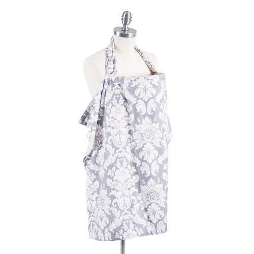 美國 Bebe au Lait-優質純棉哺乳巾-Chateau Silver