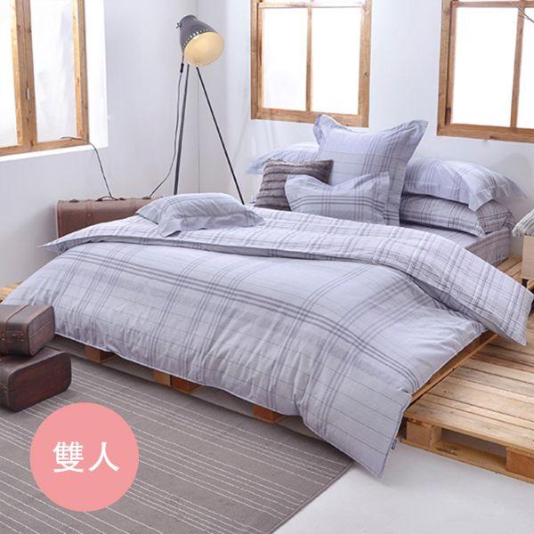 格蕾寢飾 Great Living - 純棉床包枕套組-悠然灰調 (雙人三件式)