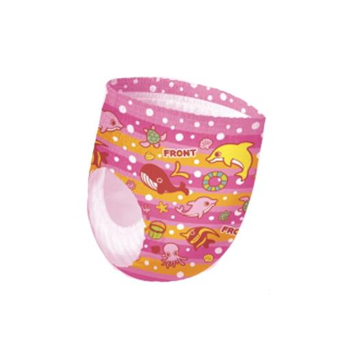 日本大王 GOO.N-拋棄式游泳尿布褲-粉紅海洋生物-3入
