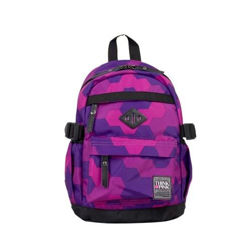 THINK PINK-THINK PINK 迷你後背包/童包-幾何紫