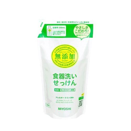 日本 MIYOSHI 無添加 - 餐具清潔液-補充包-350ml