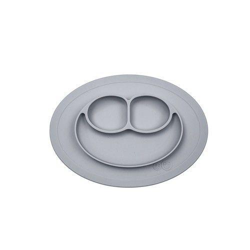 美國 ezpz-快樂餐盤 Happy Mini Mat-迷你餐盤-簡約灰