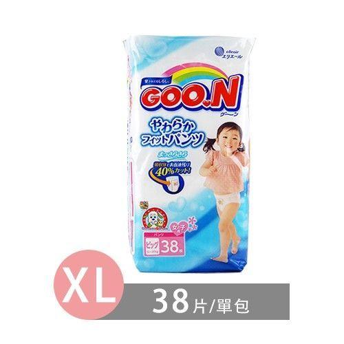 Goo.N-日本境內大王NHK阿福狗版尿布-女孩褲型 (XL [12-20 kg])-38片/包