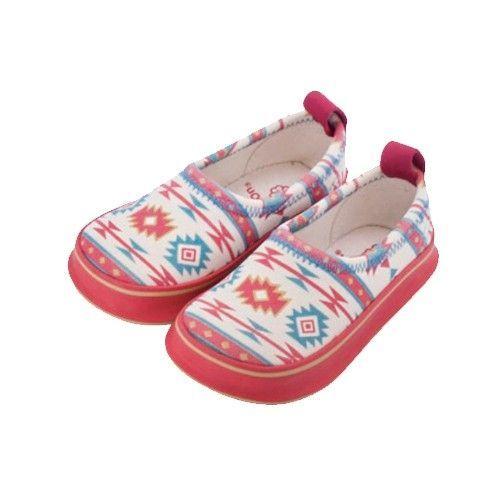 日本SkippOn-戶外防滑休閒鞋-多彩民族風