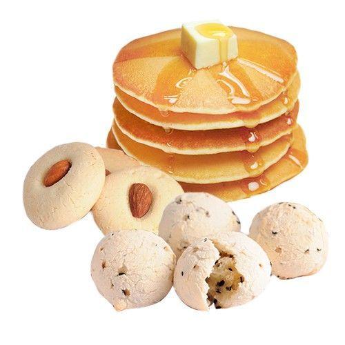 趣做點心-[媽咪愛獨家組]大小孩都喜歡全包DIY組:低糖杏仁酥+韓國麻糬小麵包+萬用鬆餅粉