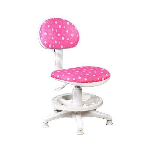 創意小天才-《知識家》兒童成長可調式電腦椅【水玉限定版】-紅色