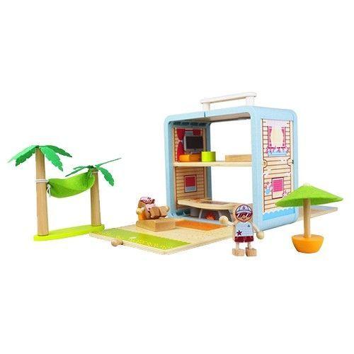 趣味木頭玩具箱