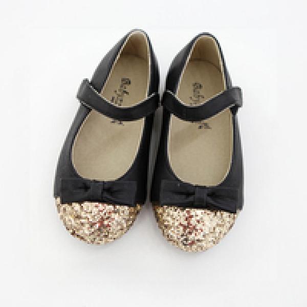 亮粉蝴蝶結娃娃鞋