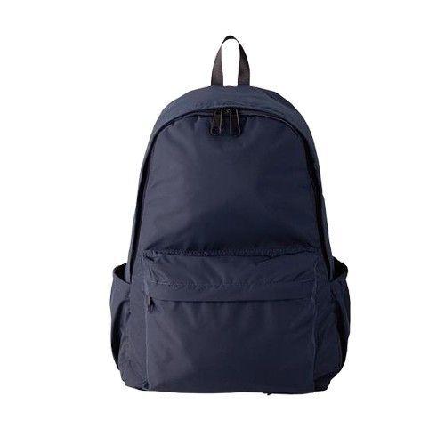 日本akasugu - 名模聯名款2way超強收納媽媽後背包-附尿布墊+安全扣環+鑰匙圈-深藍