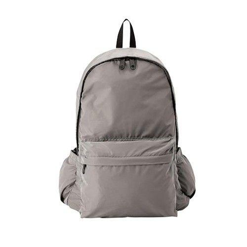 日本akasugu - 名模聯名款2way超強收納媽媽後背包-附尿布墊+安全扣環+鑰匙圈-灰