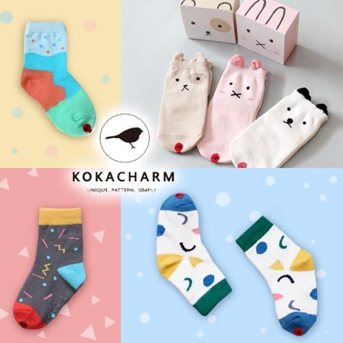 韓國 Kokacharm 可愛造型童襪 ʕ·ᴥ·ʔ 現貨供應!