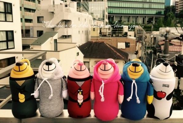 日本thermo mug動物造型兒童水壺