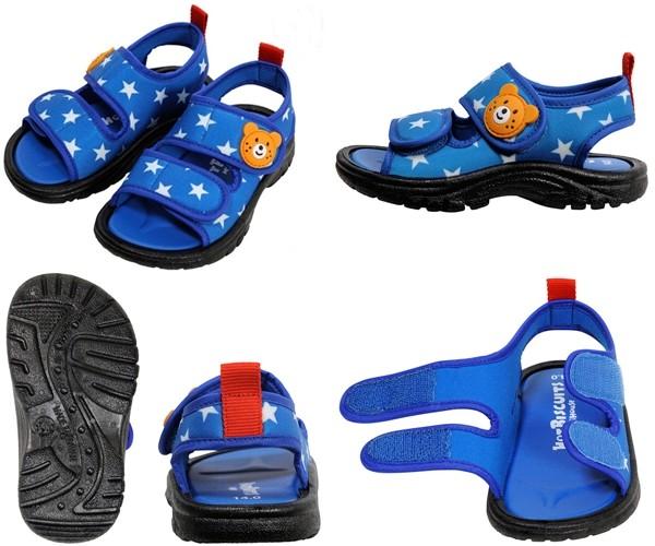 MikiHouse 柔軟平紋織可愛涼鞋
