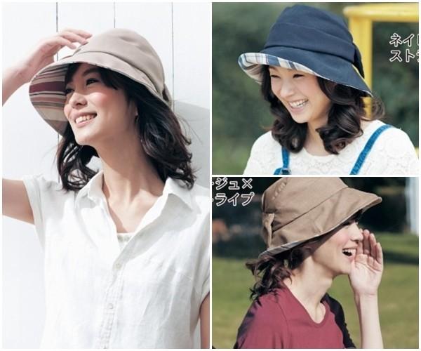 日本千趣會 UV 寬帽簷蝴蝶結帽