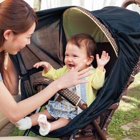 日本 Benesse :UV 隔絕全罩式推車網罩:咖啡歐蕾