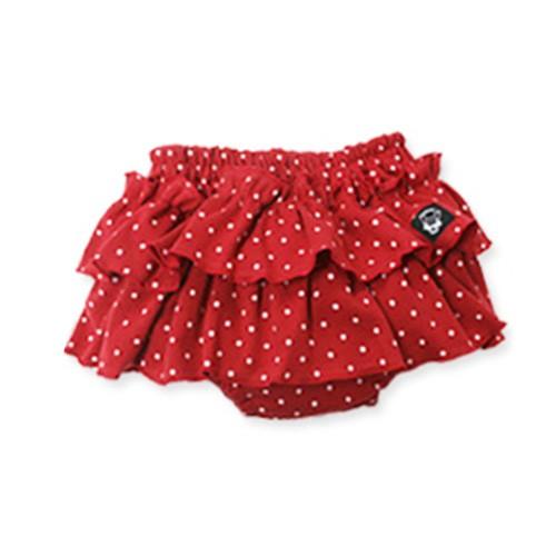 日本 PLATINUM BABY 日本製純棉點點波浪屁屁裙褲