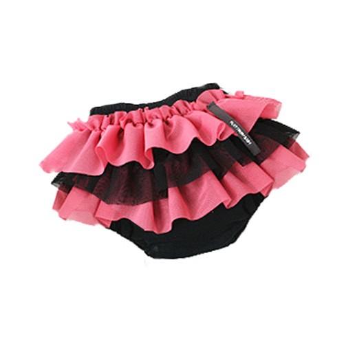 日本 PLATINUM BABY 日本製純棉波浪屁屁紗裙褲