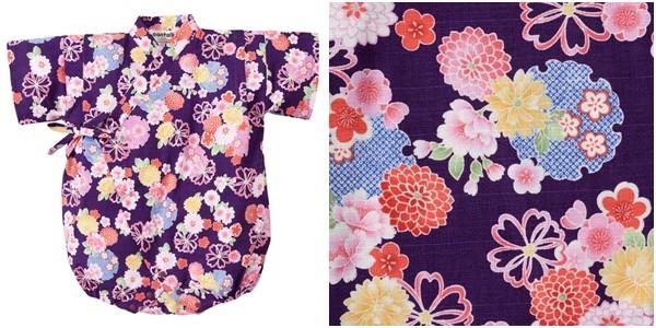 日本 Nissen 日本製女寶純棉甚平連身衣