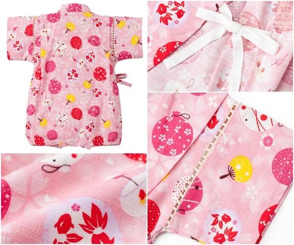 日本 Nissen 女寶純棉甚平連身衣