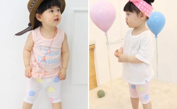 韓國製kkakkungnoriter童裝, 上衣, 褲子, 吊帶褲, 內搭褲