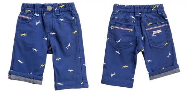 L.COPECK 鯊魚刺繡五分褲