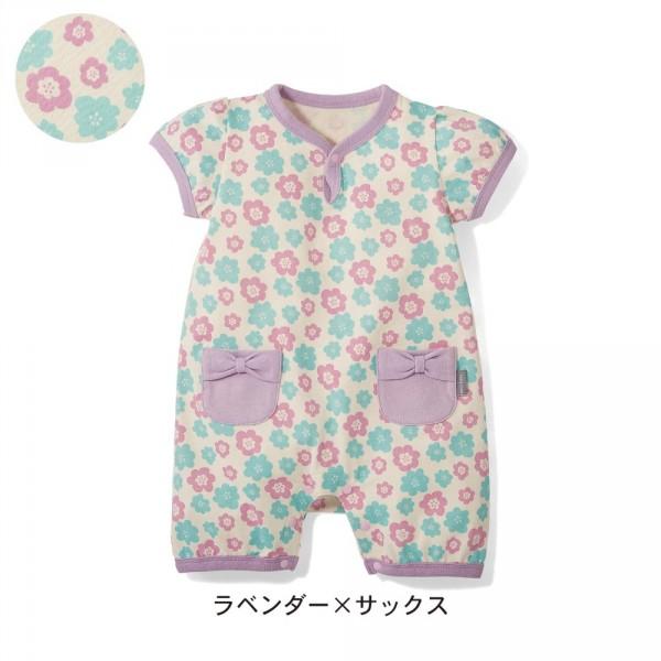 日本千趣會 x petit Editer 天竺棉蝴蝶結口袋短袖連身衣