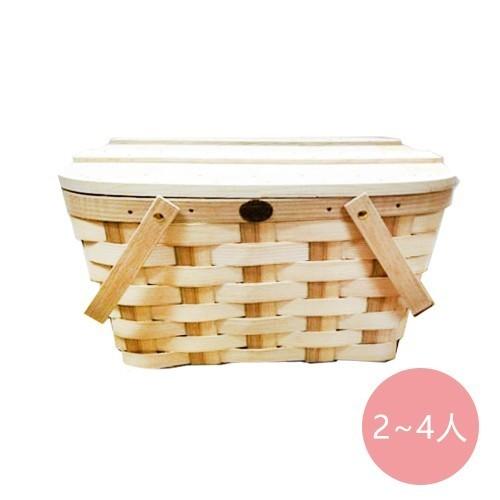 鄉村蓋板上掀式野餐籃(2~4人)