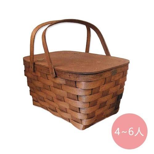 甜蜜家庭側掀式野餐籃 (4~6 人)