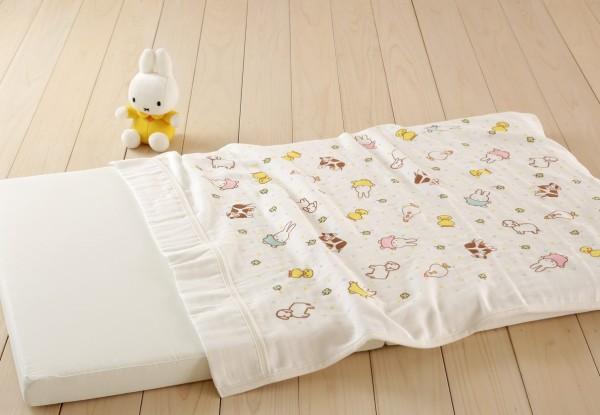 日本西川 living 日本製 miffy 純棉四重紗被