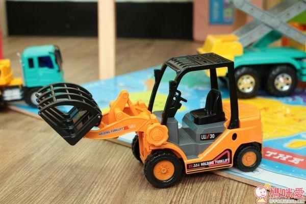 小小家 工程小車車 磨輪叉鏟車