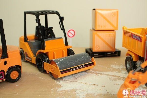 小小家 工程小車車 磨輪小型壓路機