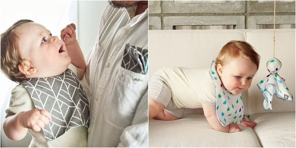 DADWAY 日本製 3 層構造二重紗圍兜