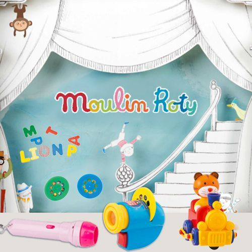 【法國Moulin Roty】故事手電筒 / 桌遊 / 金屬玩具