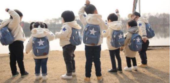 韓國 BESSON JOUJOU 星星親子媽媽包(後背款)、寶貝包