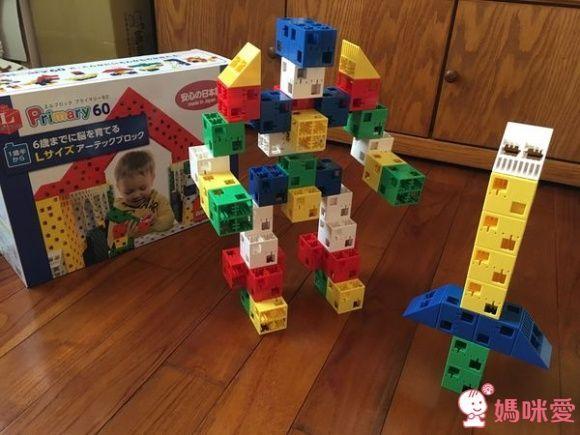 ✩日本製 Artec 彩色積木大積木系列-Blocks幼兒積木紙盒 60PCS