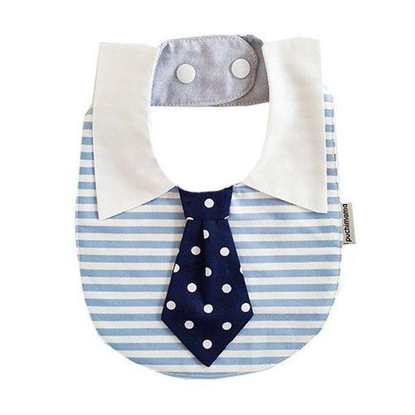 純棉領帶/領結造型圍兜兜