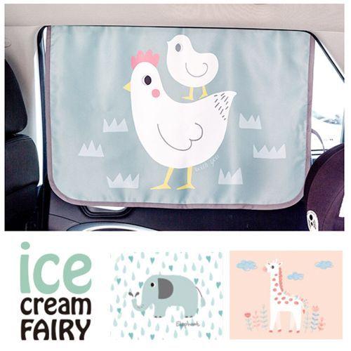 韓國【Ice Cream Fairy】三層抗UV磁鐵遮陽窗簾
