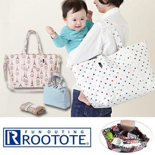 日本【ROOTOTE】防潑水 2 way 媽媽包