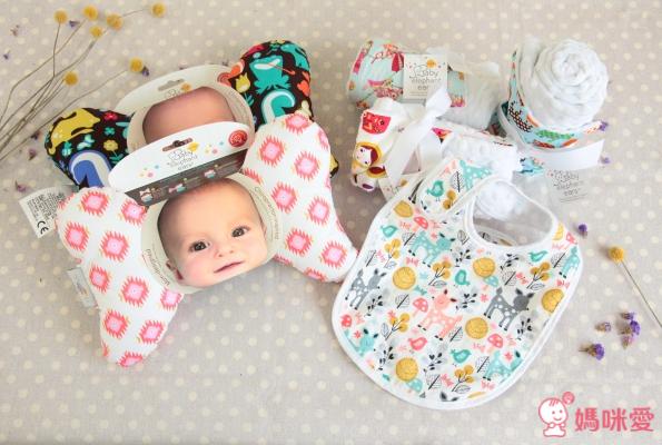 【 美國 Rocking Baby 】嬰兒護頸枕 X 親膚顆粒毯 X 顆粒圍兜