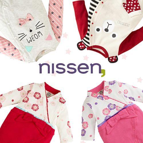 日本 Nissen 新生兒長袖包屁衣 / 妙妙裝 / 連身裝 ❤