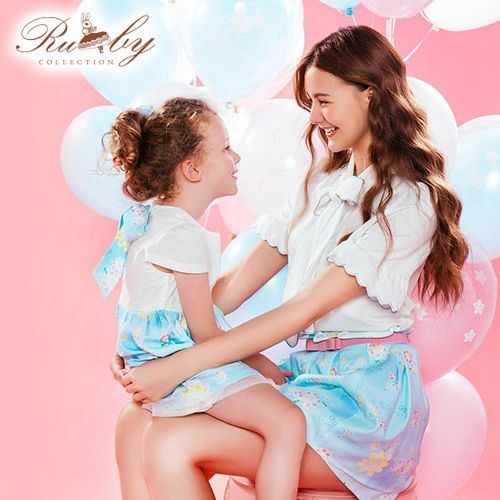 Ruby's Collection 露比午茶 x  Hello Kitty 夢幻聯名親子裝