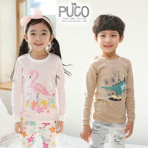 韓國製 PUCO 無螢光棉家居服 ❤ 整套只要$380!