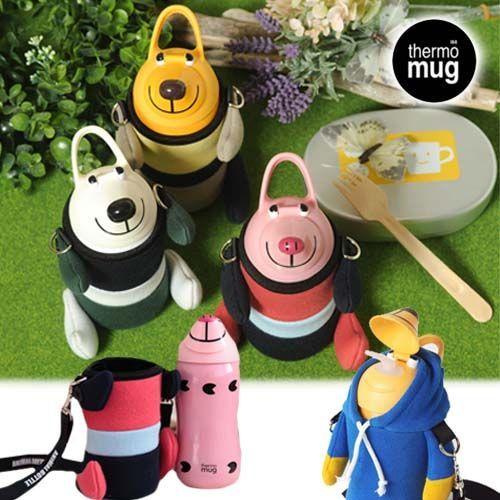 日本境內限定款✩Thermo mug 不鏽鋼水壺/替換蓋/保護套/吸管