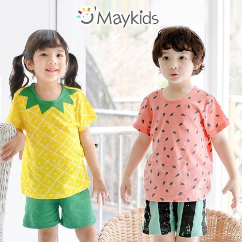 韓國 MAYKIDS 夏季無袖/ 短袖/ 七分袖家居服