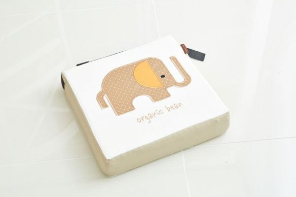 韓國 Organic Bean 防水乳膠透氣兒童增高座墊