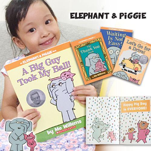亞馬遜5星幽默繪本★【Elephant and Piggie大吉象和小豬寶系列】童書大師莫威樂 Mo Willems 經典創作