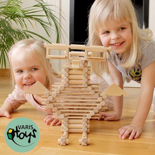 獨家限定團購 38 折起!【歐洲 VARIS TOYS】木製建構積木