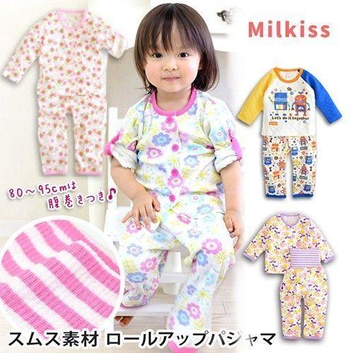 日本 Milkiss 長袖腹卷睡衣 / 長袖包屁衣
