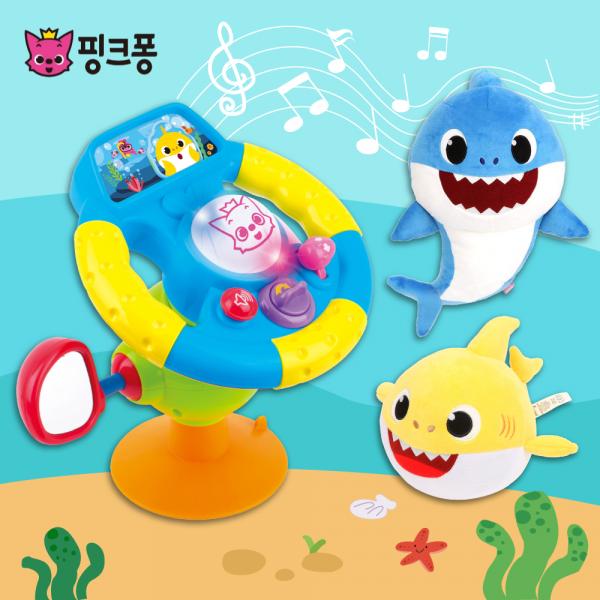 1Y寶寶最愛【韓國 Baby Shark ✖ 碰碰狐】幼兒聲光玩具♡
